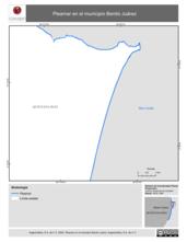 Mapa ilustrativo de Pleamar en el municipio Benito Juárez