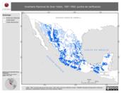 Mapa ilustrativo de Inventario Nacional de Gran Vision, 1991-1992: puntos de verificacion