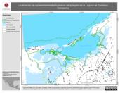 Mapa ilustrativo de Localización de los asentamientos humanos de la región de la Laguna de Términos, Campeche.