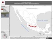 Mapa ilustrativo de Podiceps nigricollis (zambullidor orejudo) verano. Distribución potencial.