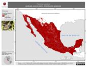 Mapa ilustrativo de Porzana carolina (polluela sora) invierno. Distribución potencial.