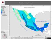 Mapa ilustrativo de Moda de precipitación anual
