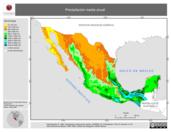 Mapa ilustrativo de Precipitación media anual