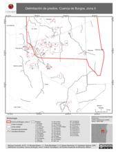 Mapa ilustrativo de Delimitación de predios. Cuenca de Burgos, zona II