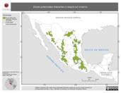 Mapa ilustrativo de Zonas potenciales tolerantes a sequía en Invierno