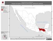 Mapa ilustrativo de Ramphocelus passerinii (tángara terciopelo) residencia permanente. Distribución potencial.