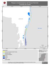 Mapa ilustrativo de Rasgos complementarios del Parque Nacional Arrecifes de Xcalak