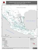 Mapa ilustrativo de Ratón en México. Distribución de la raza de maíz. La proyección citada, es exclusiva para el diseño de esta imagen.