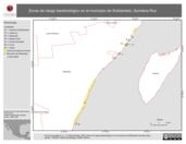 Mapa ilustrativo de Zonas de riesgo bacteriológico en el municipio de Solidaridad, Quintana Roo