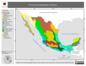Mapa ilustrativo de Provincias biogeográficas de México