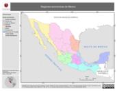 Mapa ilustrativo de Regiones Económicas de México