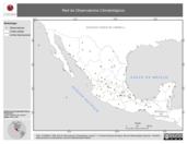 Mapa ilustrativo de Red de Observatorios Climatológicos