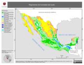 Mapa ilustrativo de Regímenes de humedad del suelo