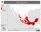 Mapa ilustrativo de Reithrodontomys mexicanus (Ratón). Distribución potencial.