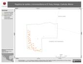 Mapa ilustrativo de Registros de reptiles y micromamíferos en El Taray, Arteaga, Coahuila, México