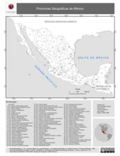 Mapa ilustrativo de Provincias Fisiográficas de México