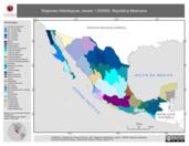 Mapa ilustrativo de Regiones Hidrológicas, escala 1:250000. República Mexicana
