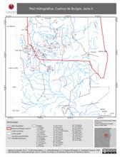 Mapa ilustrativo de Red Hidrográfica. Cuenca de Burgos, zona II