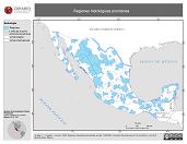 Mapa ilustrativo de Regiones Hidrológicas Prioritarias
