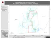 Mapa ilustrativo de Hidrología superficial, ríos y escurrimientos, de la Reserva de la Biosfera de Calakmul, Campeche