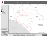 Mapa ilustrativo de Riqueza faunística de Chiapas