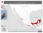Mapa ilustrativo de Rostrhamus sociabilis (gavilán caracolero) residencia permanente. Distribución potencial.