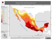 Mapa ilustrativo de Radiación Solar Global Media Estacional III (Otoño,polígonos)