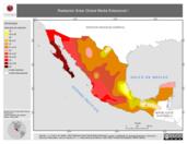 Mapa ilustrativo de Radiación Solar Global Media Estacional I (Pirmavera, polígonos)