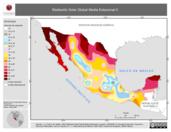 Mapa ilustrativo de Radiación Solar Global Media Estacional II (Verano, polígonos)