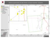 Mapa ilustrativo de Sistemas agroforestales del ejido Xkanha, municipio Hopelchén, Campeche