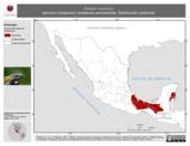 Mapa ilustrativo de Saltator maximus (picurero bosquero) residencia permanente. Distribución potencial.