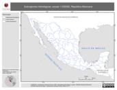 Mapa ilustrativo de Subregiones Hidrológicas, escala 1:250000. República Mexicana