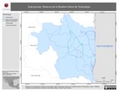 Mapa ilustrativo de Subcuencas. Reserva de la Biosfera Sierra de Tamaulipas