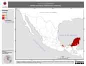 Mapa ilustrativo de Sciurus yucatanensis (Ardilla yucateca). Distribución potencial.