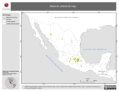 Mapa ilustrativo de Sitios de colecta de trigo