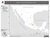 Mapa ilustrativo de Sitios de colecta de trigo tolerantes a sequía