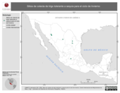 Mapa ilustrativo de Sitios de colecta de trigo tolerante a sequía para el ciclo de Invierno