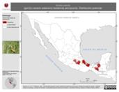 Mapa ilustrativo de Sicalis luteola (gorrión-canario sabanero) residencia permanente. Distribución potencial.