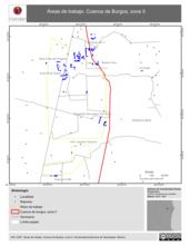 Mapa ilustrativo de Áreas de trabajo. Cuenca de Burgos, zona II