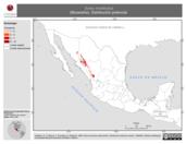 Mapa ilustrativo de Sorex monticolus (Musaraña). Distribución potencial.
