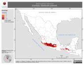 Mapa ilustrativo de Spermophilus adocetus (Cuinique). Distribución potencial.