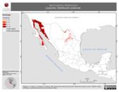 Mapa ilustrativo de Spermophilus tereticaudus (Juancito). Distribución potencial.
