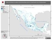 Mapa ilustrativo de Sitios prioritarios acuáticos epicontinentales para la conservación de la biodiversidad