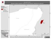 Mapa ilustrativo de Spindalis zena (tángara cabeza-rayada) residencia permanente. Distribución potencial.