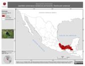 Mapa ilustrativo de Sporophila americana (semillero americano) residencia permanente. Distribución potencial.