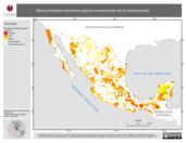 Mapa ilustrativo de Sitios prioritarios terrestres para la conservación de la biodiversidad