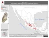 Mapa ilustrativo de Strix varia (búho listado) residencia permanente. Distribución potencial.
