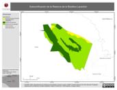 Mapa ilustrativo de Subzonificación de la Reserva de la Biosfera Lacantún