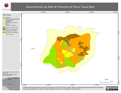Mapa ilustrativo de Subzonificación del Área de Protección de Flora y Fauna Nahá