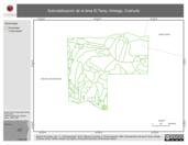 Mapa ilustrativo de Subrodalización de el área El Taray, Arteaga, Coahuila